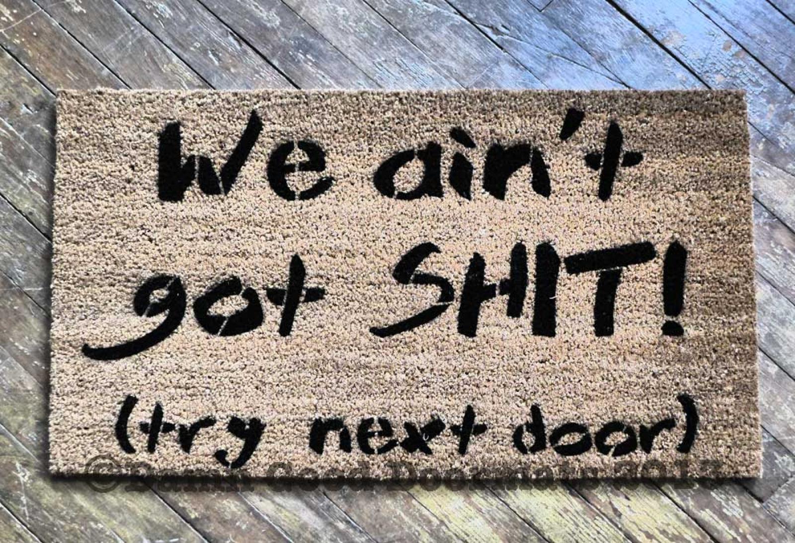 Fo shizzle welcome to my hizzle rude funny doormat damn good doormats - Offensive doormats ...