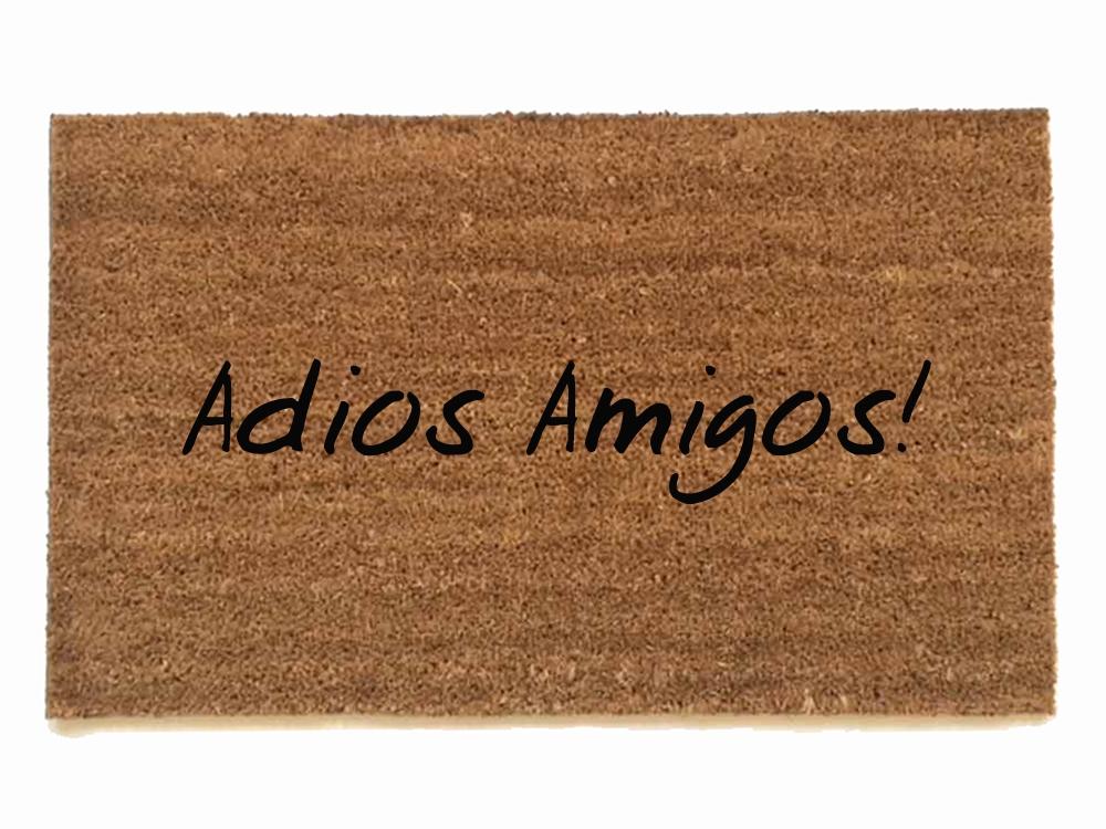 Spanish Hola Adios Amigos Hello Goodbye Doormat Damn