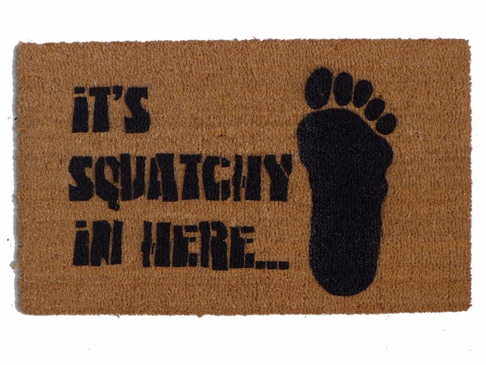 Bigfoot Sasquatch Doormat Damn Good Doormats
