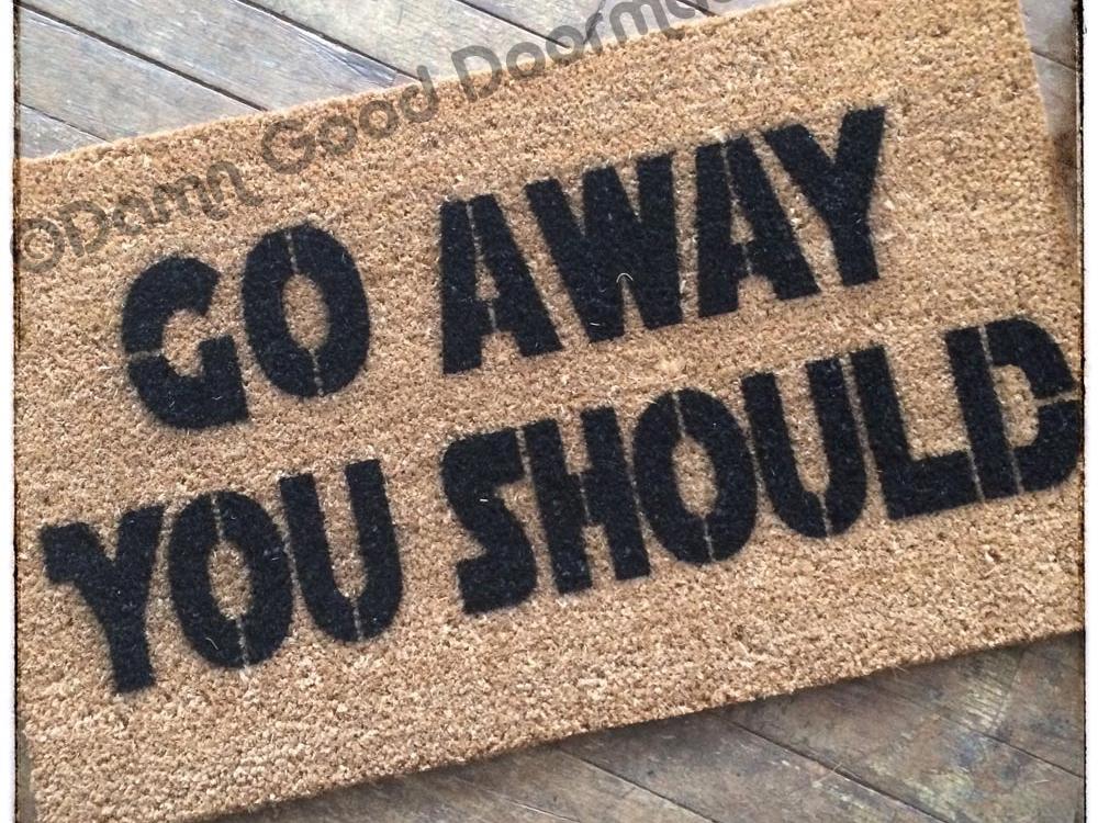 Rude Yoda Go Away You Should Doormat Damn Good Doormats