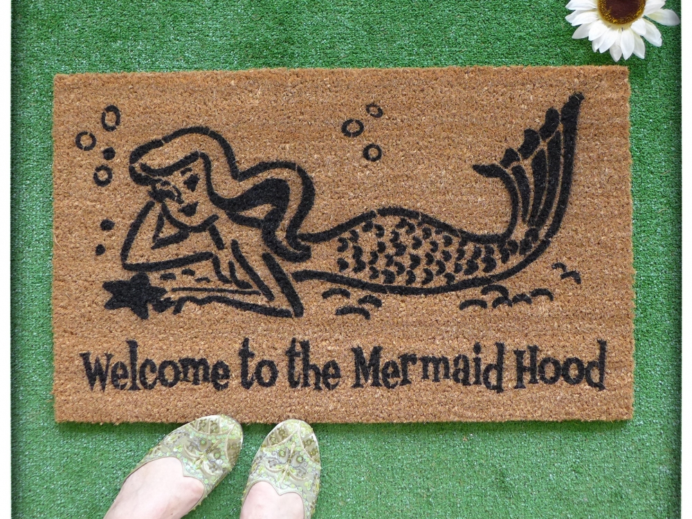 Welcome To The Mermaid Hood Damn Good Doormats