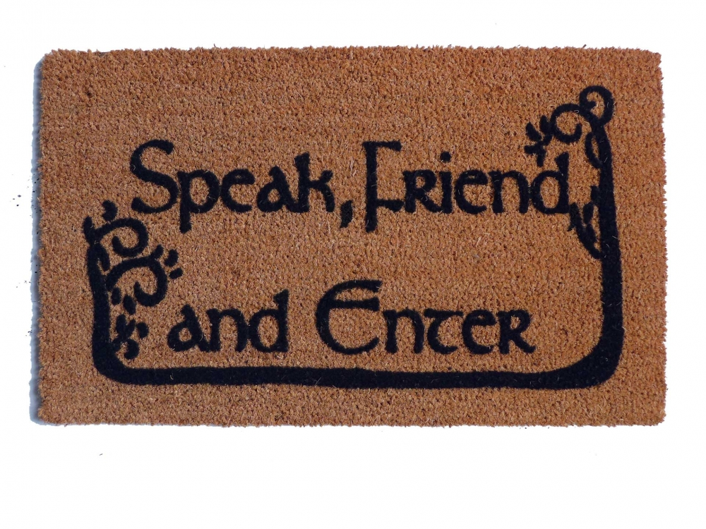 Tolkien Quot Speak Friend And Enter Quot Doormat With Trees
