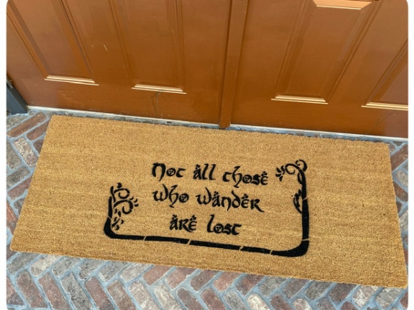 doublewide extra largeJRR Tolkien nerd doormat Not all those who wander are lost