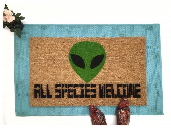 Alien All species Halloween Welcome doormat