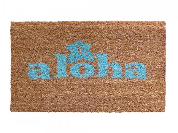 aloha tiki hawaiian welcome goodbye doormat welcome