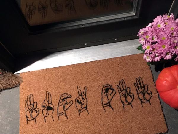 ASL F Bomb fuck off funny rude doormat