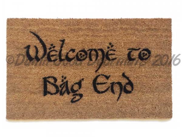 LOTR Bilbo Welcome to Bag End doormat