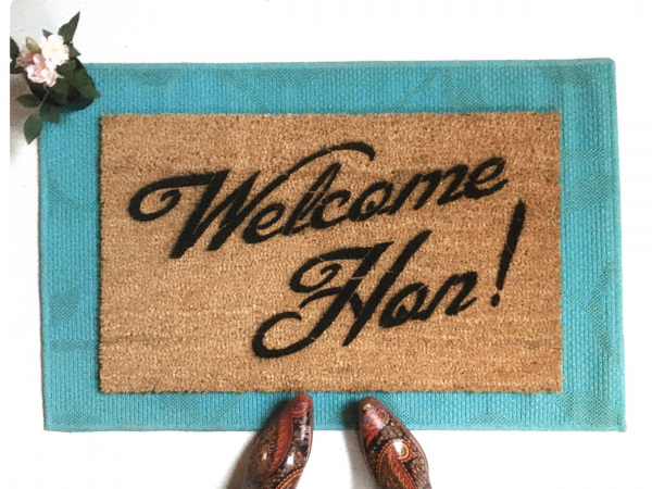 Welcome Hon Baltimore door mat