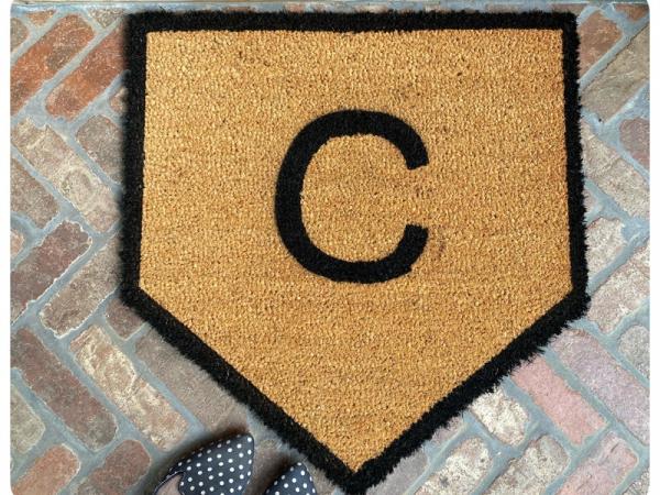 Home Plate Baseball doormat