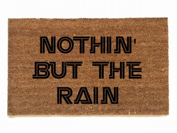 Battlestar Galactica Nothin but the rain nerdy house doormat