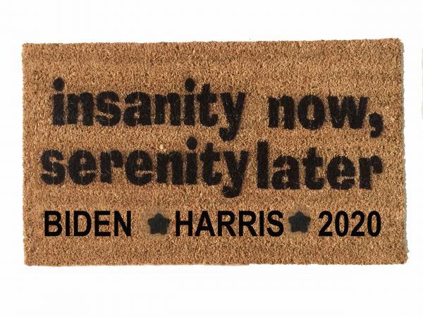 Insanity now, Serenity later Biden Harris 2020