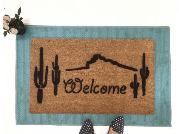 Cactus western desert lasso doormat