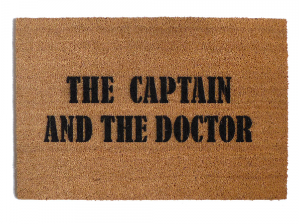 Dr. Who THE CAPTAIN AND THE DOCTOR  doormat