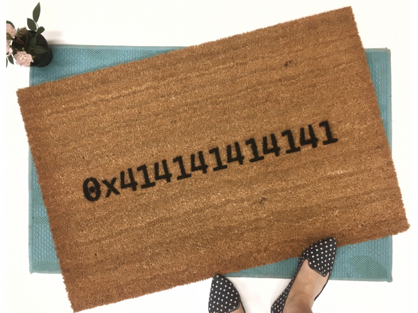 Cascadia 0x414141414141 Computer programmer code doormat
