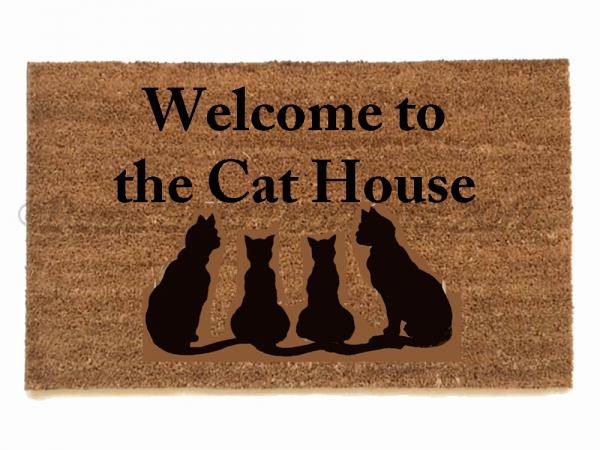 meow cat lover doormat