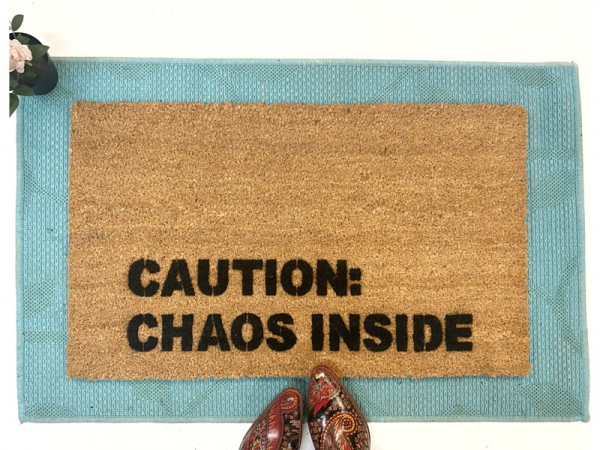 caution chaos inside kids family funny gift hoarders