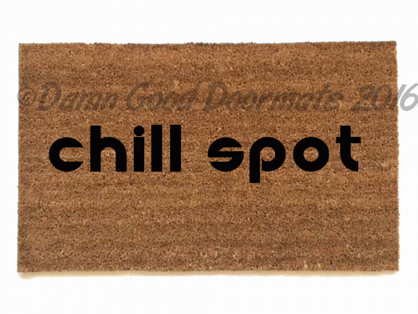 chill spot™ weed pot marijuana doormat