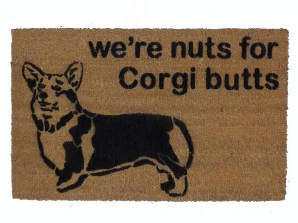 corgi butts nuts welsh dog lover cute funny damn good doormat.jpg