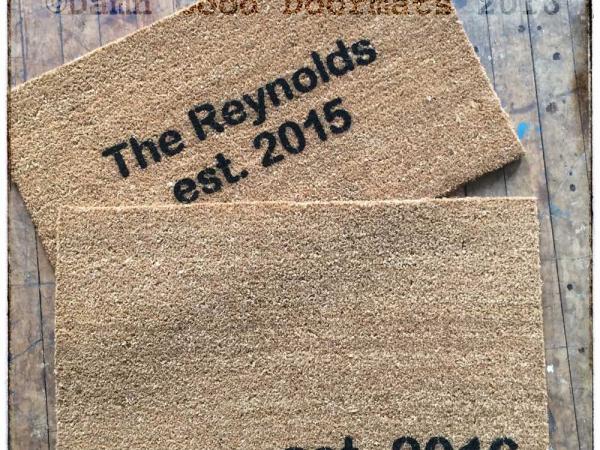 Established date doormat custom year