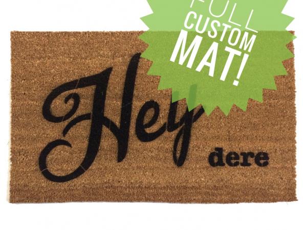 Custom personalized doormat