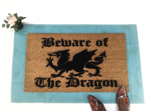Beware of the Dragon medieval Game of Thrones doormat