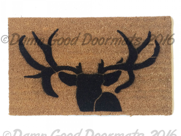 Duck Dynasty deer head doormat