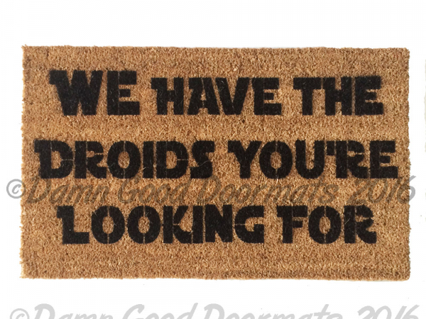 star wars welcome doormat geek nerd funny doormat