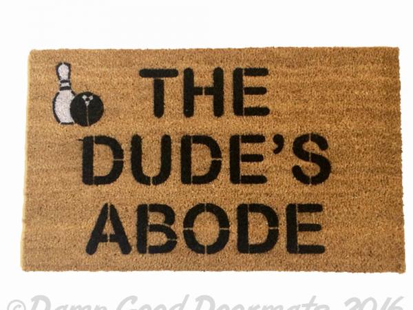 big lebowsi-porch-rug-ties funny dude doormat