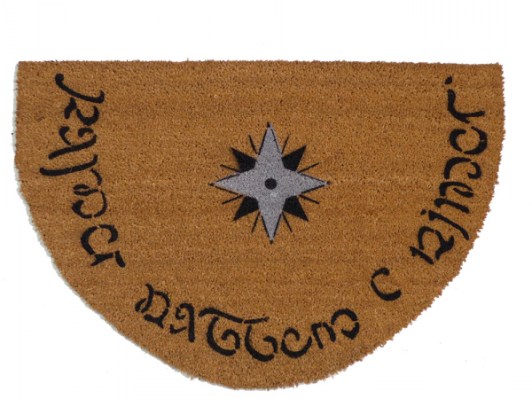 Elvish half Moon JRR Tolkien Speak Friend and enter doormat