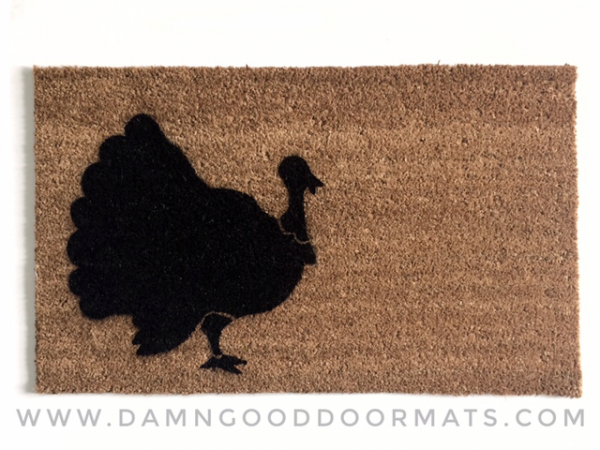 Thanksgiving Turkey holiday doormat