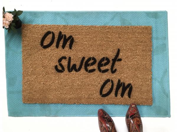 om sweet om  Zen  Yoga mat