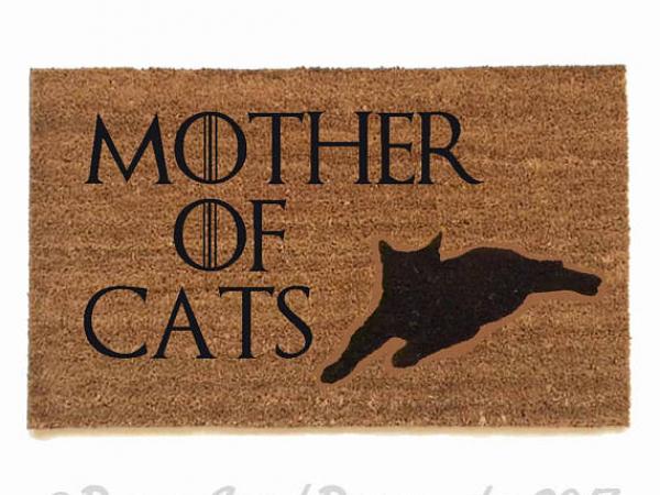 Mother of CATS Game of Thrones dog doormat