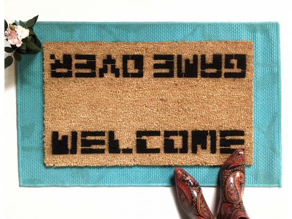 WELCOME / GAME OVER Atari doormat