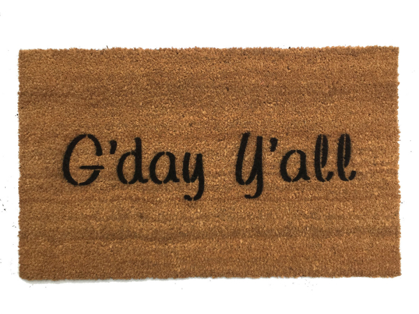 G'day y'all boho style Southern Australian doormat