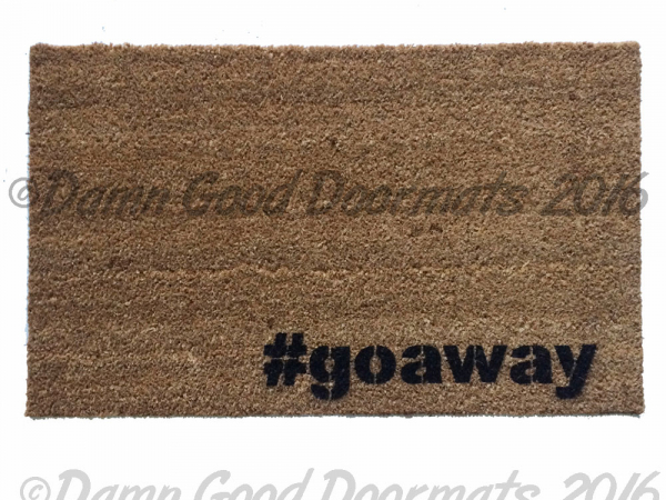 #go away doormat