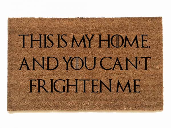 sansa stark, this is my home ,frightenme game of thrones, door mat, doormat, got