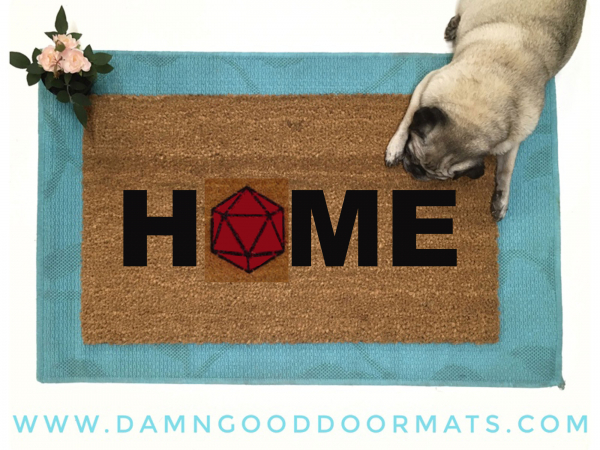 HOME Dungeons and Dragons 20D RPG doormat