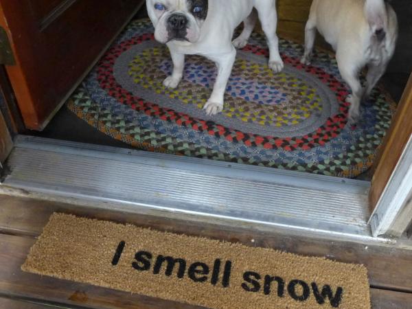 I smell snow Gilmore Girls funny winter doormat
