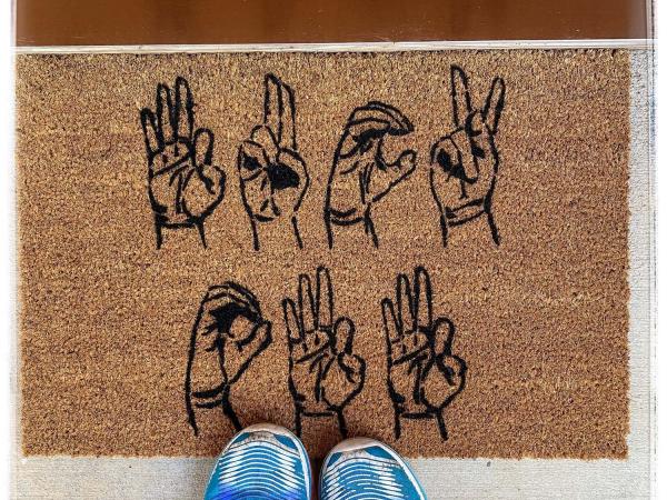 Fuck Off ASL American Sign Language damn good doormat