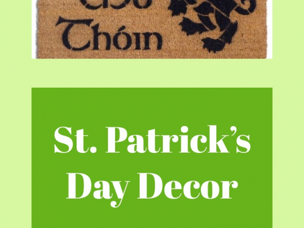 Irish St Patricks day decor