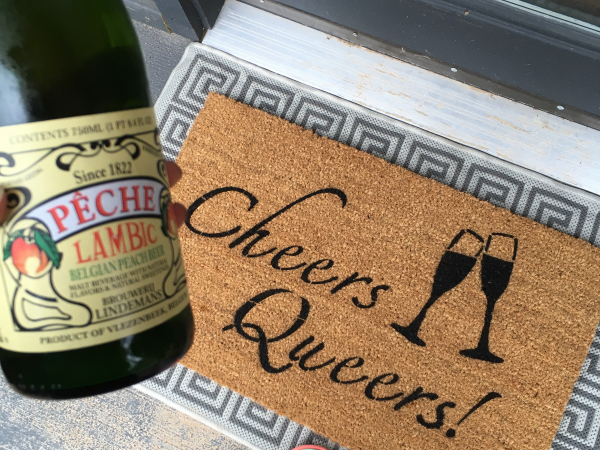Cheers Queers! JVN Netflix Queer Eye Fab Five LGBTQ peaches lambic  doormat