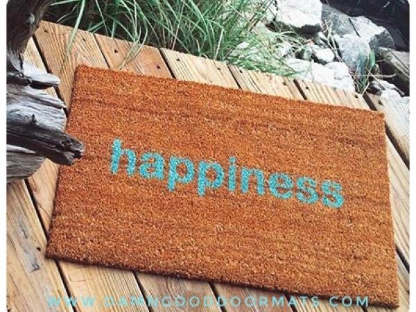 zen  happiness doormat welcome