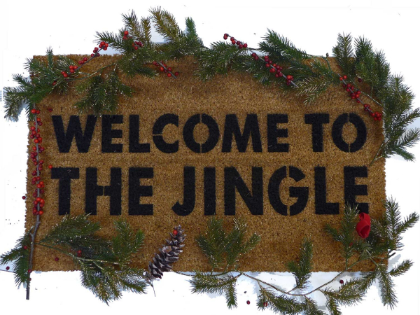 Welcome to the Jingle- a Christmas rap doormat