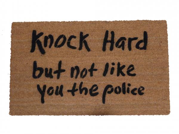 Nock hard, but not like you the police™ funny rude meme damn good doormat handpa