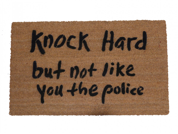 Nock hard, but not like you the police™ funny rude meme damn good doormat handpa