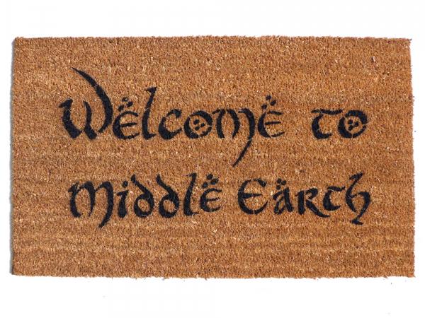 Welcome to Middle Earth, JRR Tolkien nerd doormat The Hobbit, LOTR