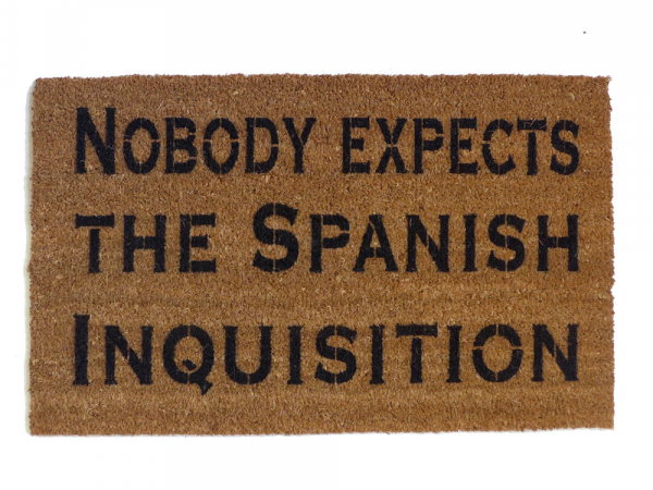 Go Away, or I will TAUNT you a second time Monty Python doormat