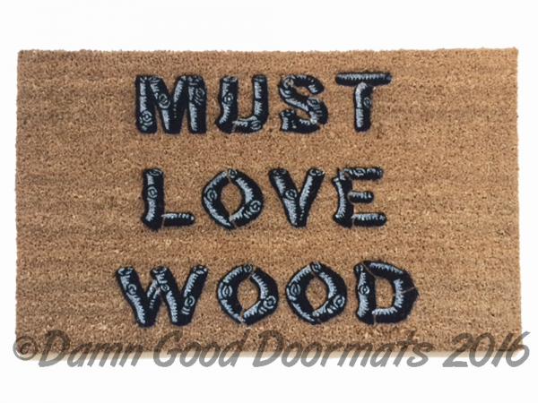 Must love wood michigan womyns festival doormat