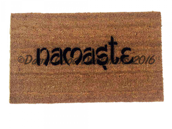 namasteWelcome OM doormat hindu housewarming damn good doormat bitches funny rud