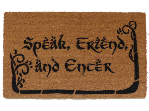 Tolkien  -Speak, FriendTolkien  Speak, Friend, and Enter with TREES nerdy house